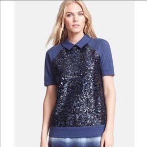 Kate Spade Blue Sequin Milo Sweatshirt